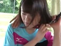 美少女が肛門から水を噴射しながら調教されてる